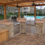 outdoor kitchen pool patio